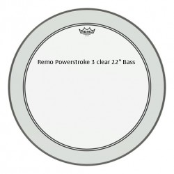 """Remo Powerstroke 3 Clear 22"""""""